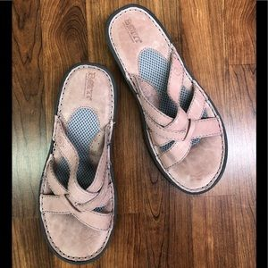 Born blush leather sandal
